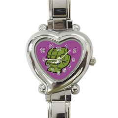 Hulk Smash Heart Italian Charm Watch