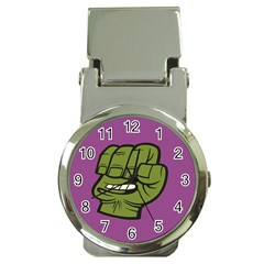 Hulk Smash Money Clip with Watch