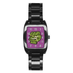 Hulk Smash Stainless Steel Barrel Watch