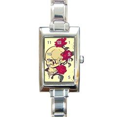 skeleton Rectangular Italian Charm Watch