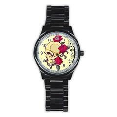 Skeleton Sport Metal Watch (black)