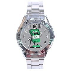 Don t Waste Your Time    Stainless Steel Watch