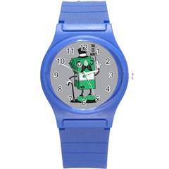 Don t Waste Your Time    Plastic Sport Watch (small)