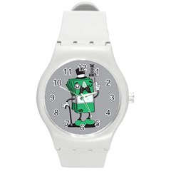 Don t waste your time... Plastic Sport Watch (Medium)