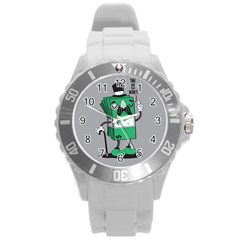 Don t Waste Your Time    Plastic Sport Watch (large)