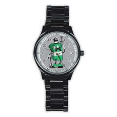 Don t waste your time... Sport Metal Watch (Black)
