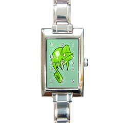 Lucky Lizard Rectangular Italian Charm Watch