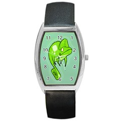 Lucky Lizard Tonneau Leather Watch