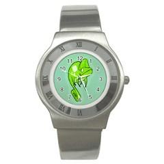 Lucky Lizard Stainless Steel Watch (Slim)