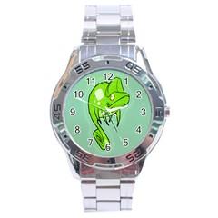 Lucky Lizard Stainless Steel Watch