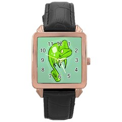 Lucky Lizard Rose Gold Leather Watch