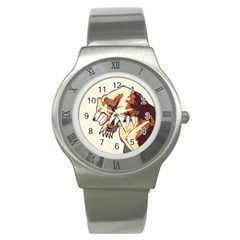 Bear Time Stainless Steel Watch (Slim)