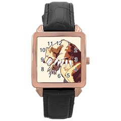 Bear Time Rose Gold Leather Watch