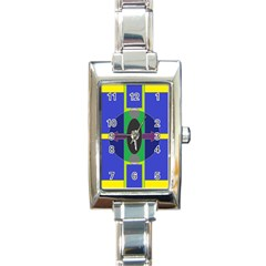 Geometrical Rectangular Italian Charm Watch