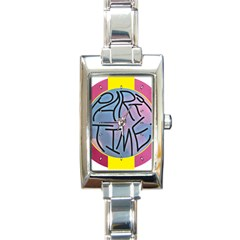 Party Time Rectangular Italian Charm Watch
