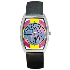 Party Time Tonneau Leather Watch