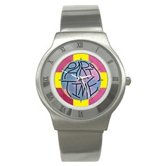 Party Time Stainless Steel Watch (slim)