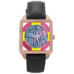 Party Time Rose Gold Leather Watch
