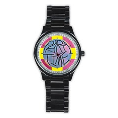 Party Time Sport Metal Watch (Black)