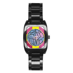 Party Time Stainless Steel Barrel Watch