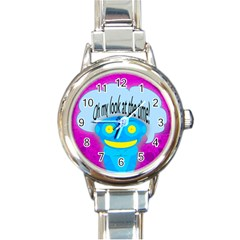 Oh My Look At The Time! Round Italian Charm Watch