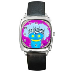 Oh my look at the time! Square Leather Watch