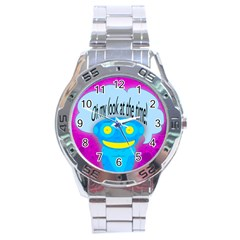 Oh My Look At The Time! Stainless Steel Watch