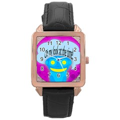 Oh my look at the time! Rose Gold Leather Watch