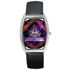 Galaxy Time Tonneau Leather Watch