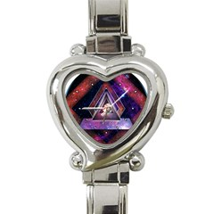 Galaxy Time Heart Italian Charm Watch