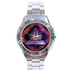 Galaxy Time Stainless Steel Watch