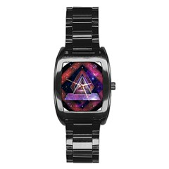 Galaxy Time Stainless Steel Barrel Watch