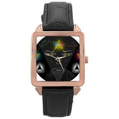 Wizard Rose Gold Leather Watch