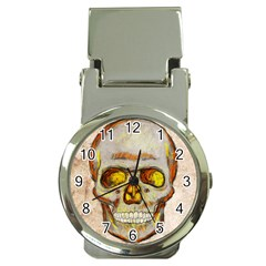 Warm Skull Money Clip with Watch