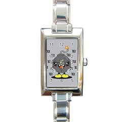 Time Bomb Rectangular Italian Charm Watch