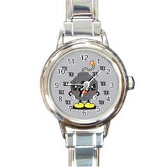 Time Bomb Round Italian Charm Watch