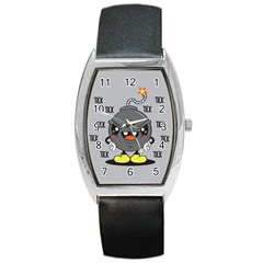 Time Bomb Tonneau Leather Watch