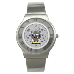 Time Bomb Stainless Steel Watch (Slim)