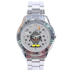 Time Bomb Stainless Steel Watch