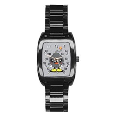 Time Bomb Stainless Steel Barrel Watch