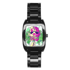 Bozo Zombie Stainless Steel Barrel Watch
