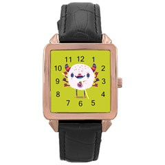 Moshi watch Rose Gold Leather Watch