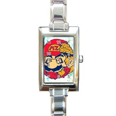 mario zombie Rectangular Italian Charm Watch