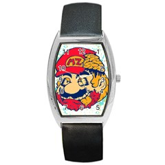 Mario Zombie Tonneau Leather Watch