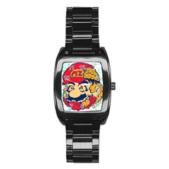 Mario Zombie Stainless Steel Barrel Watch