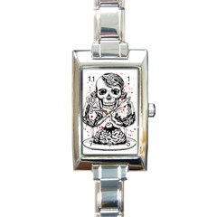 Delicious Rectangular Italian Charm Watch