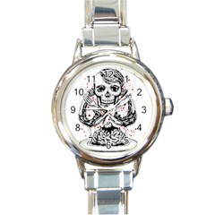 Delicious Round Italian Charm Watch