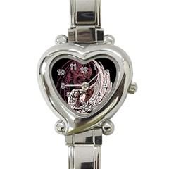 Yinyang Heart Italian Charm Watch