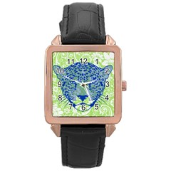 Cheetah Alarm Rose Gold Leather Watch
