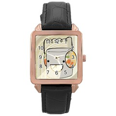 Happy Beam Rose Gold Leather Watch